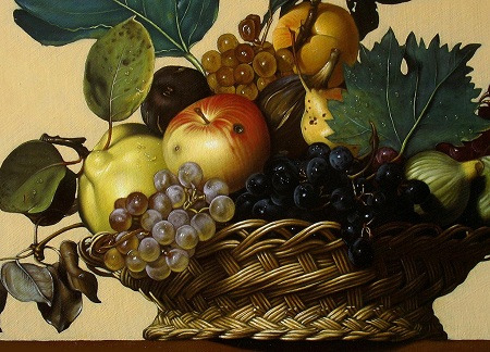 Caravaggio's Basket of Fruits - Details
