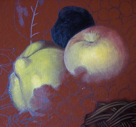 Apple and Quince Underpainting