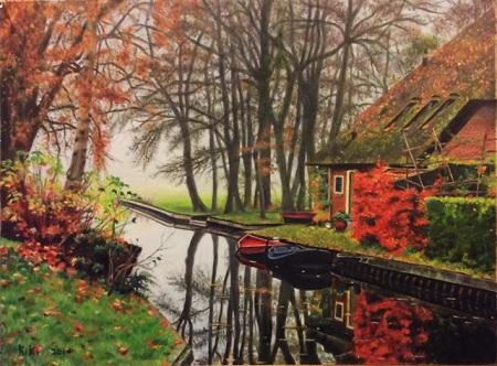 This is the finished painting - Autumn Landscape with River