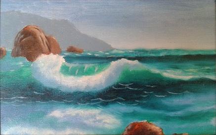 Studio di un'onda nell'oceano