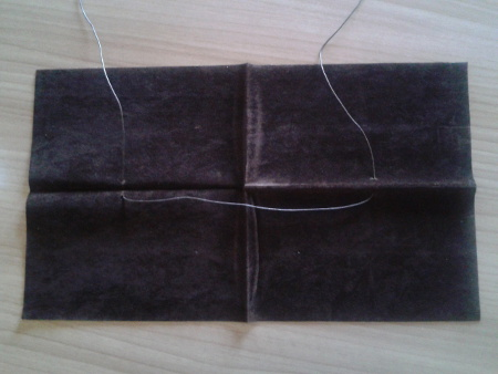 Mahl Stick - Suede Fabric and string