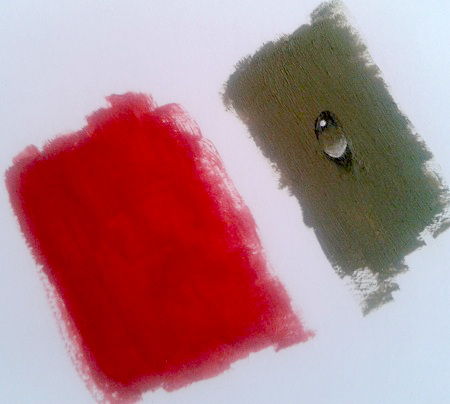 This image shows How to Paint Water Drop on red background